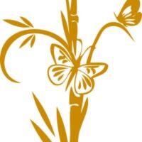 Vinilo Decorativo Mariposa Bambú