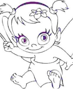 Vinilo infantil Bebe ángel
