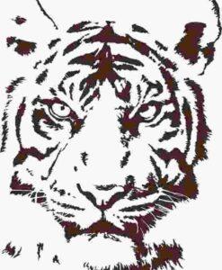 Vinilo Decorativo Cabeza Tigre