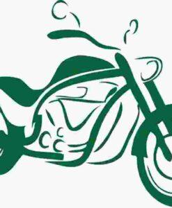 Vinilo Decorativo Moto Paseo