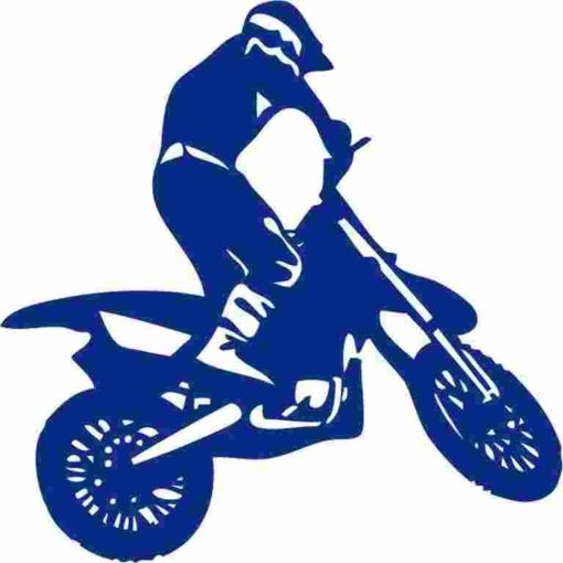 Vinilo Decorativo Moto Trial