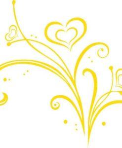 Vinilo Decorativo Flores Corazón