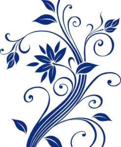 Vinilo Decorativo Flores3