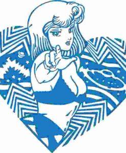 Vinilo Decorativo Chica Corazón