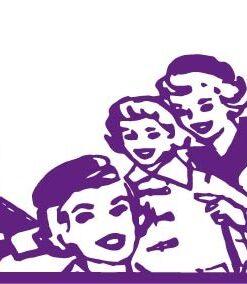 Vinilo Decorativo Mujeres años 50