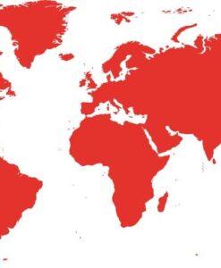 Vinilo Decorativo Mapa mundo