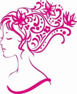 Vinilo Decorativo Mujer Flores