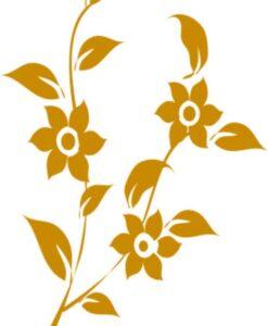 Vinilo Decorativo Flores2