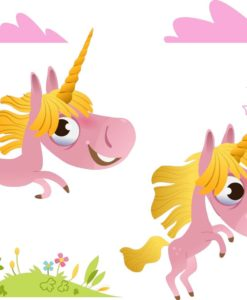 Vinilo Infantil Unicornios