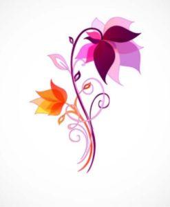 Vinilo Color Flores2