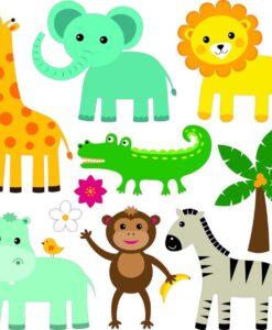 Vinilo Infantil Animales Selva2