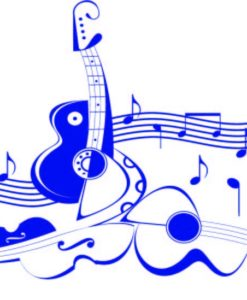 Vinilo Decorativo Guitarras