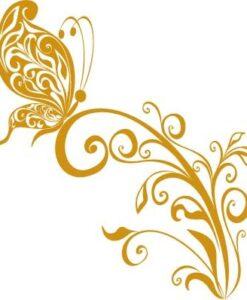 Vinilo Decorativo Mariposa Flor