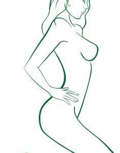 Vinilo Decorativo Desnudo Mujer