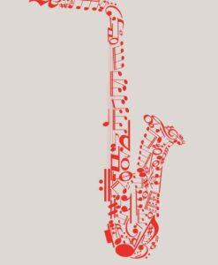 Vinilo Decorativo Saxofón2