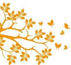 Vinilo Decorativo Árbol Mariposas
