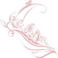 Vinilo Decorativo Hada Flor2