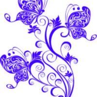 Vinilo decorativo Mariposas Flores