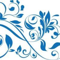 Vinilo Decorativo Conjunto Floral2