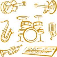 Vinilo Decorativo Instrumentos Musicales