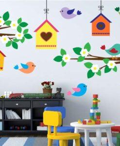 Vinilo Infantil kit Pajaritos