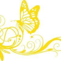 Vinilo decorativo Mariposas Flores2