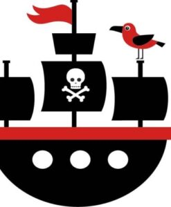 Vinilo Infantil Piratas