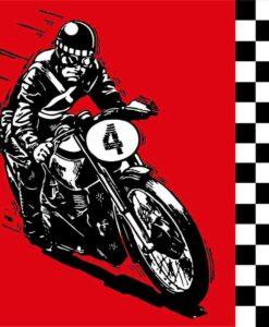 Vinilo color Moto Carrera