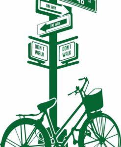 Vinilo Decorativo Bicicleta Poste