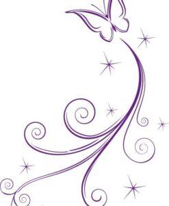 Vinilo Decorativo Mariposa Estrella