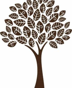 Vinilo decorativo arbol hojas