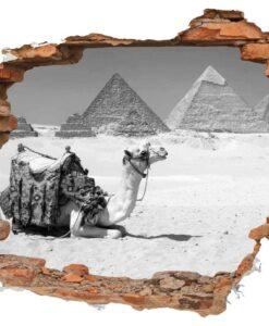 Vinilo Decorativo Agujero ladrillo piramides