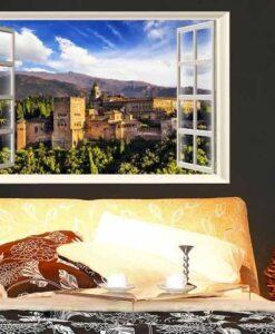 Vinilo Decorativo Ventana Granada