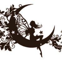 Vinilo Decorativo Hada Luna4