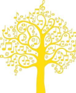 Vinilo Decorativo Árbol Música