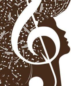 Vinilo Decorativo Cabeza Musical
