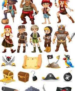 Vinilo Infantil Stiker Piratas2