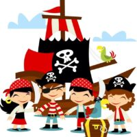 Vinilo Infantil Pirata Barco