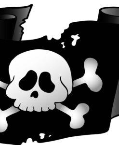 Vinilo Infantil Bandera Pirata