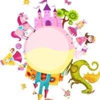 Vinilo Infantil Princesas Dragon