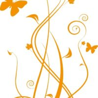 Vinilo Decorativo Mariposas Flor