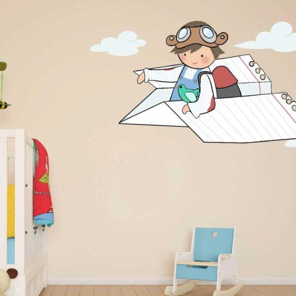 Vinilo infantil ni o avion 962 vinilo infantil ni o avion for Vinilos infantiles nino