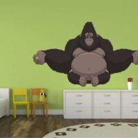 Vinilo Infantil Gorila Meditando
