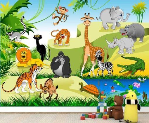 Vinilo Infantil Animales Jungla