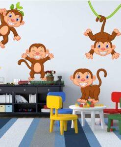 Vinilo Infantil Monos
