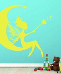 Vinilo Infantil Hada Luna2