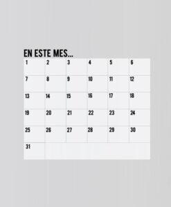 Vinilo Pizarra Rotulador Calendario