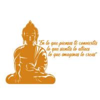 Vinilo Buddha Frase