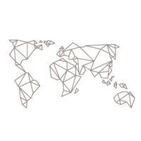 Vinilo Mapamundi Origami