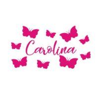 Vinilo Nombre Personalizado Mariposas